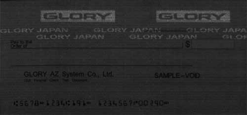 UV image cheque