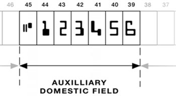 Cheque Auxilliary Field