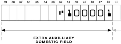 Cheque Extra Auxilliary Domestic Field